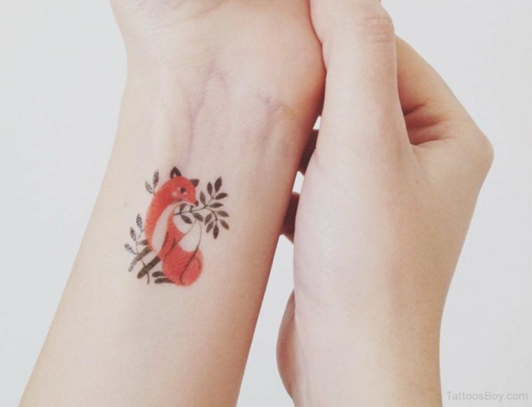 Tatouage dun renard