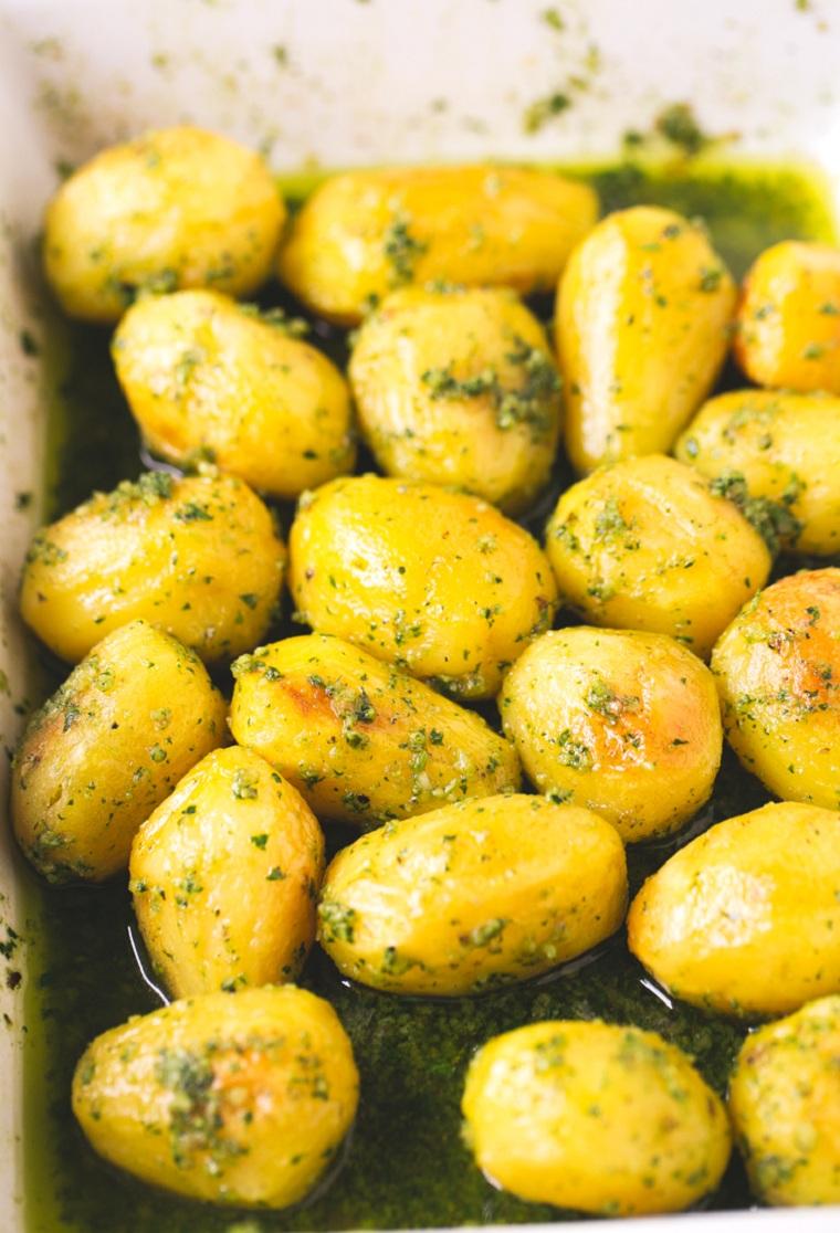 Pommes de terre au four-idées-recettes-rapide-pesto-options