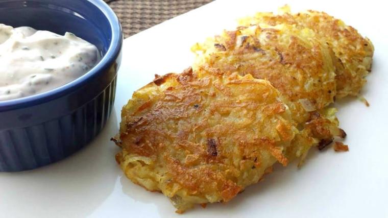 Crêpes de pommes de terre classiques (Latkes)