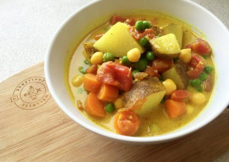 Pommes de terre au curry