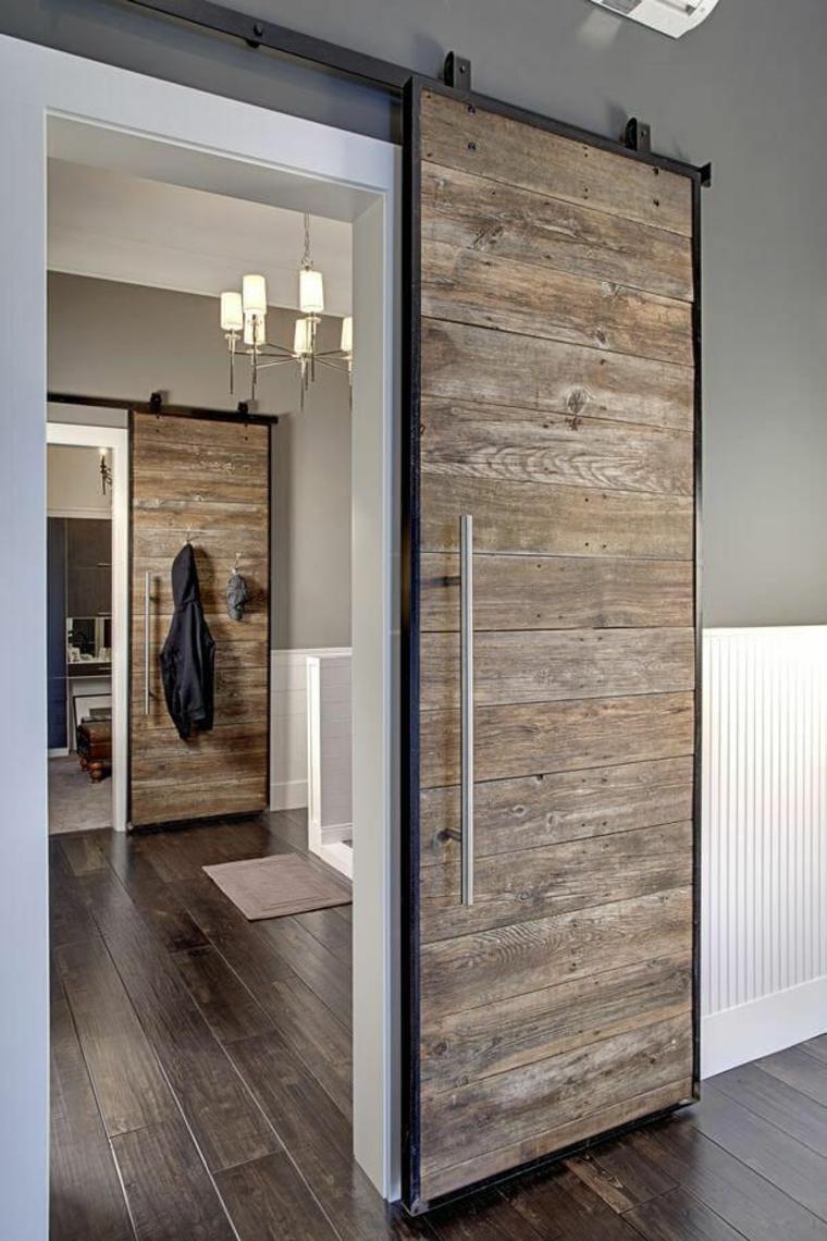 installer des portes coulissantes en bois