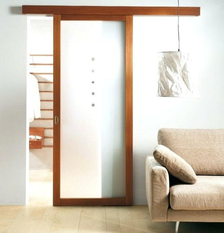 porte coulissante bois verre