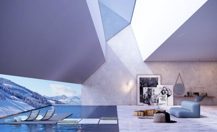 design moderne avec puits de lumière