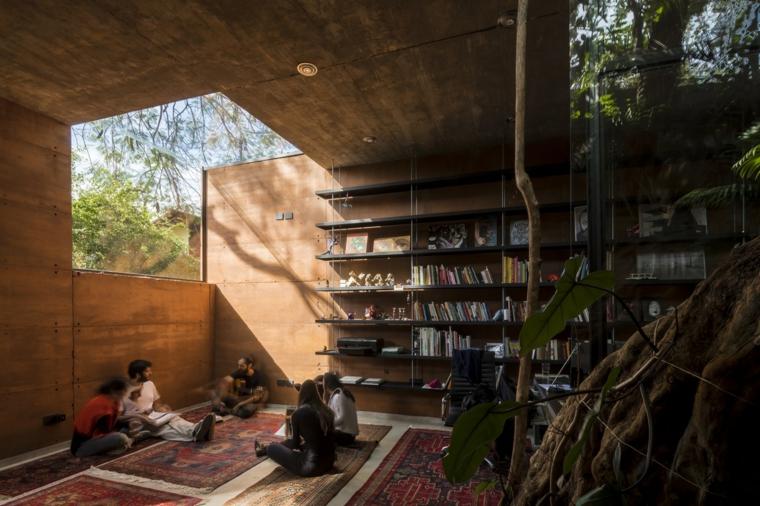 puits de lumière-dans-la-bibliothèque