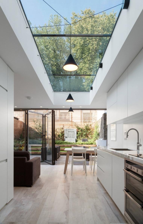 puits de lumière dans la cuisine