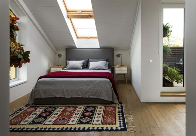 chambre à coucher avec puits de lumière