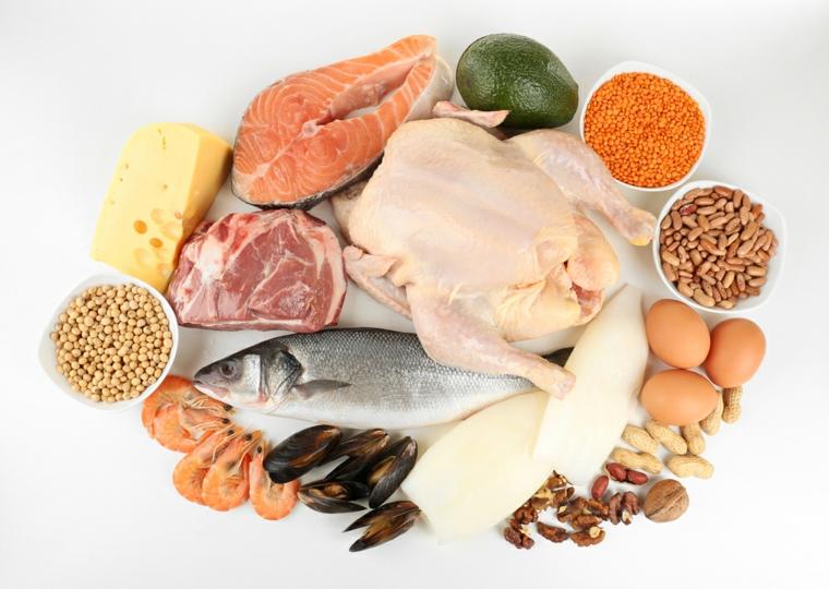 des repas sains et riches en protéines