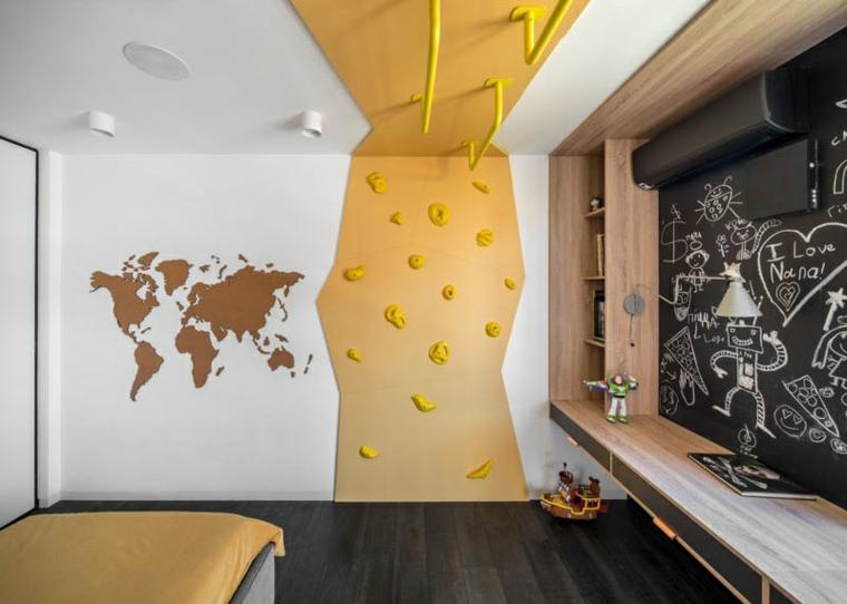 chambre à coucher-enfants-grimpeurs-métal