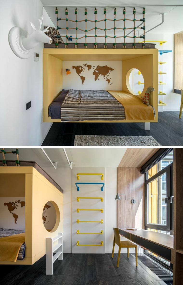 grimpeurs-lit-double-murs-bois