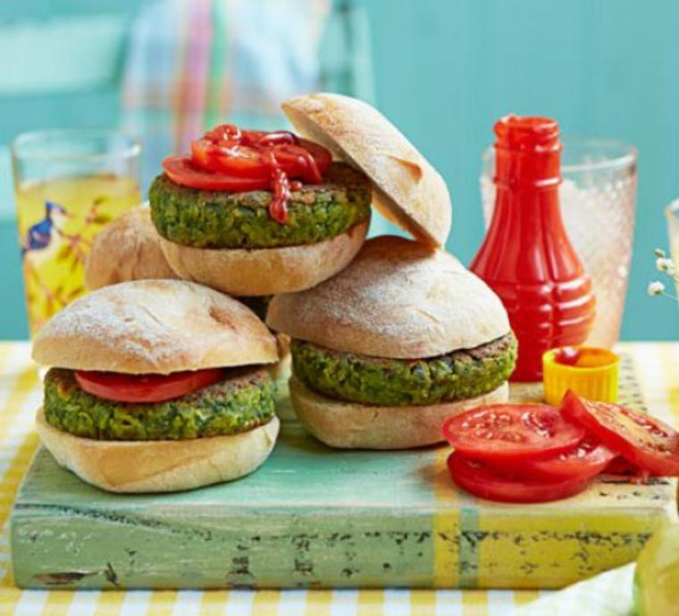 Recette de hamburgers verts
