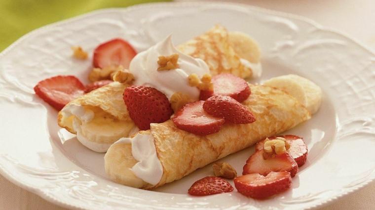 crêpes à la fraise