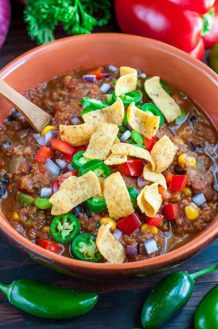 recette-lentilles-piment-végétarien-idées-nourriture-facile-rapide-dîner