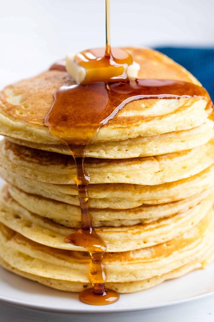 recette pancakes plats blancs
