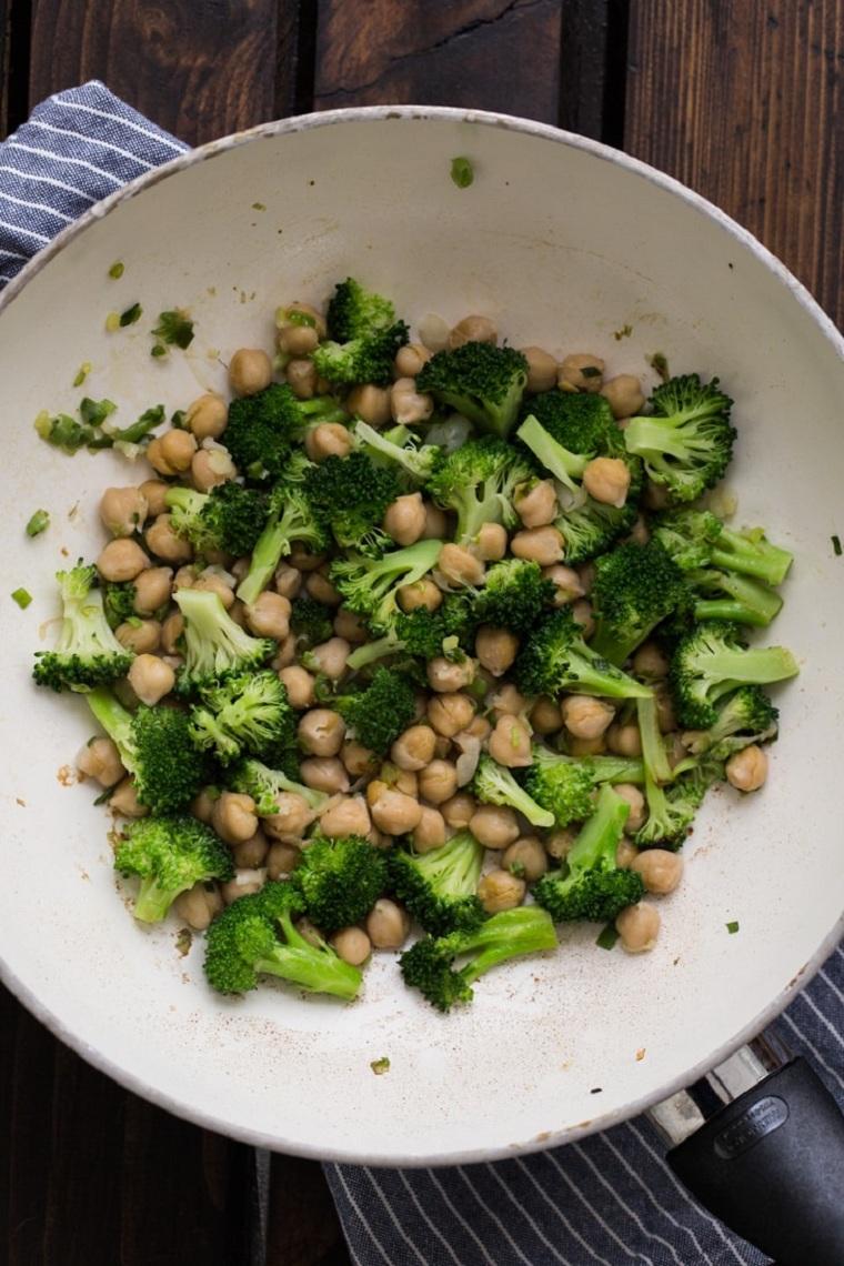 recettes avec sauce brocoli-pois chiches-teriyaki fait maison
