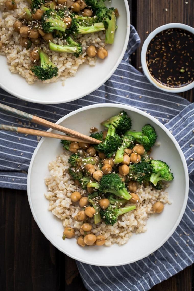 recettes-à-sauce-brocoli-pois-chiches-Teriyaki-idées-maison