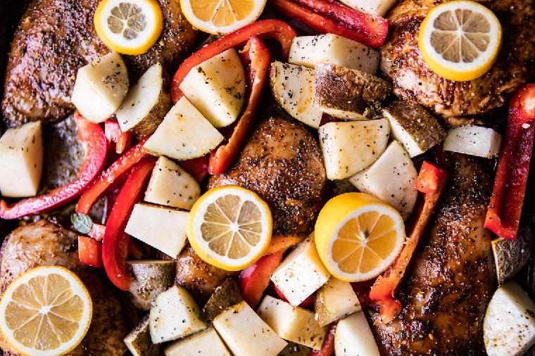 recettes-avec-poitrine-de-poulet-citron-pommes de terre
