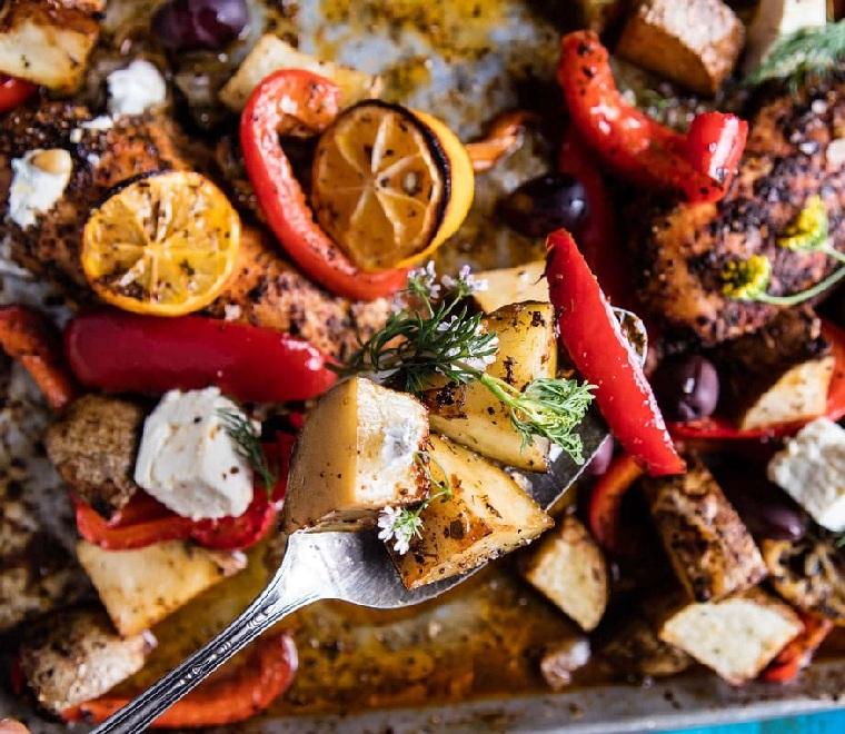 recettes-avec-poitrine-poulet-pommes de terre-citron-fromage