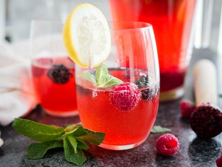 boissons préparées - citrons - mûres