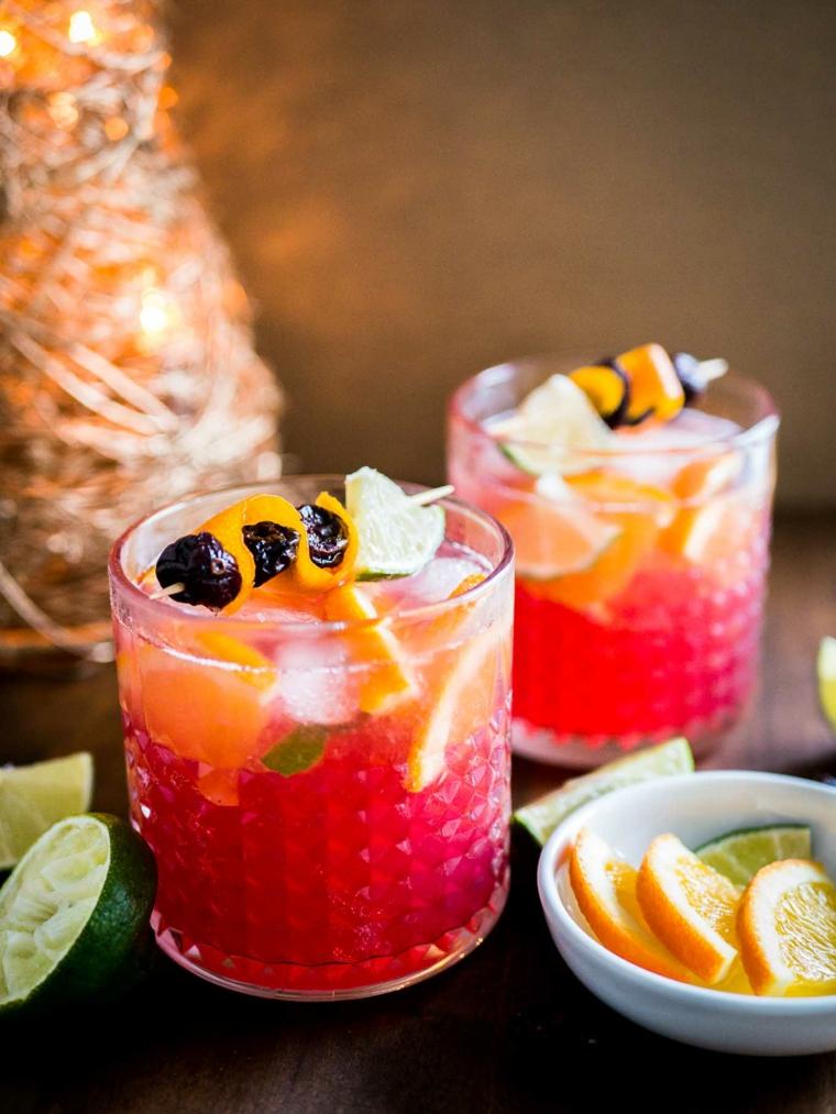 boissons exotiques-mûres-préparé-maison