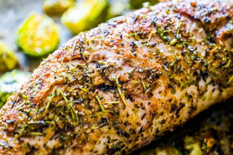 recettes pour idées de filet de porc, rôti, légumes