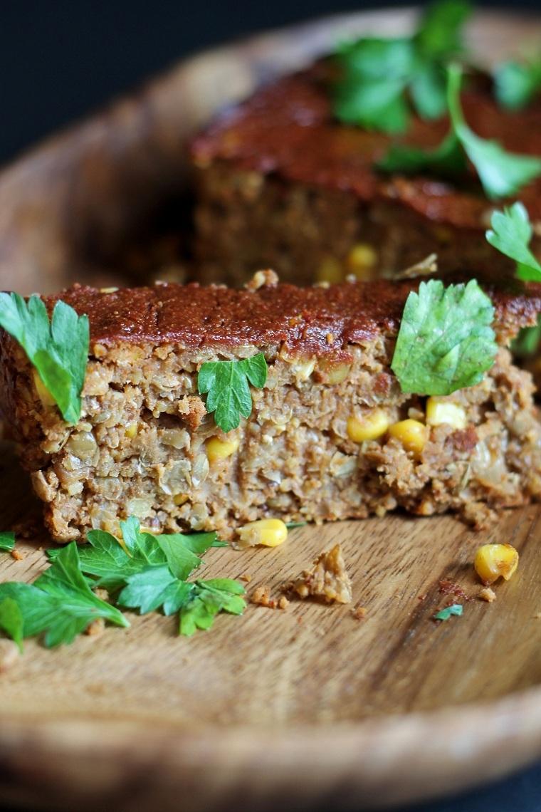 pain aux lentilles avec légumes