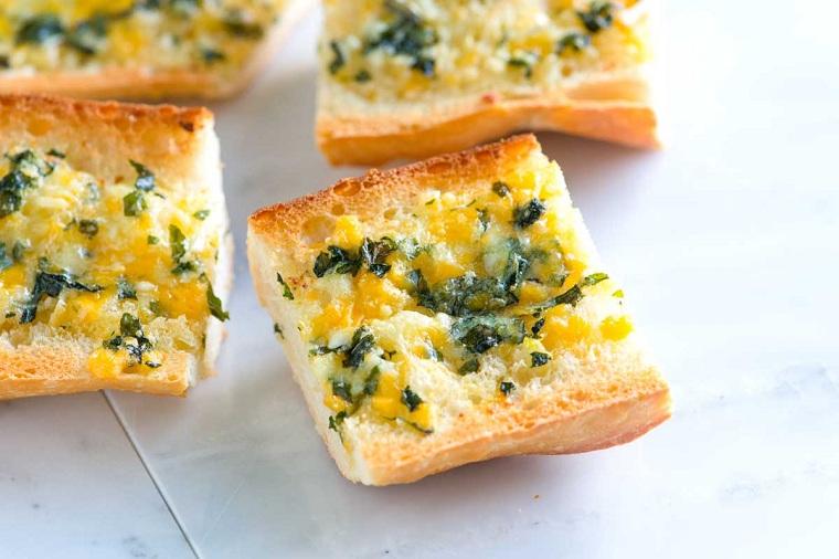 recettes-pour-le-petit-pain-pain-toasté-idées-ail