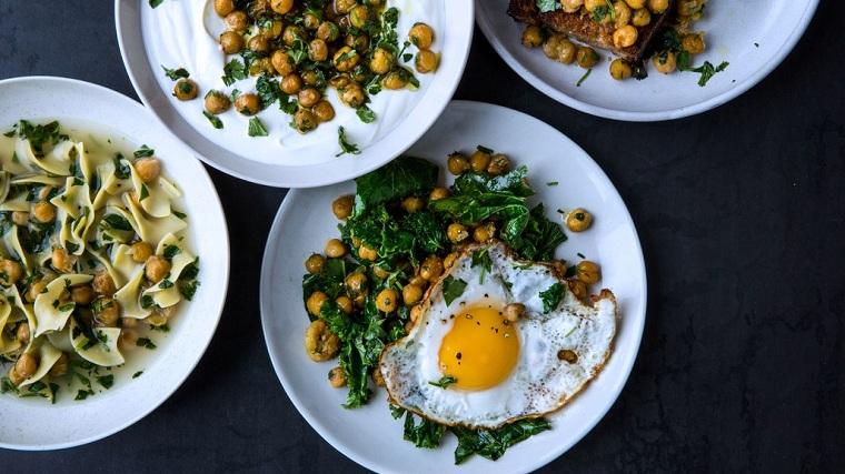 recettes faciles et économiques - pois chiches - herbes