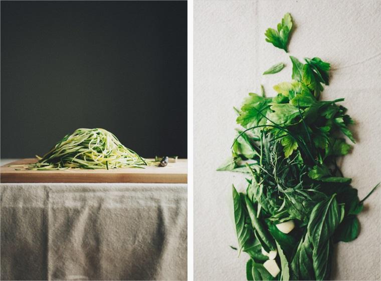 recettes-végétarien-nouilles-faciles-vinaigrette aux courgettes