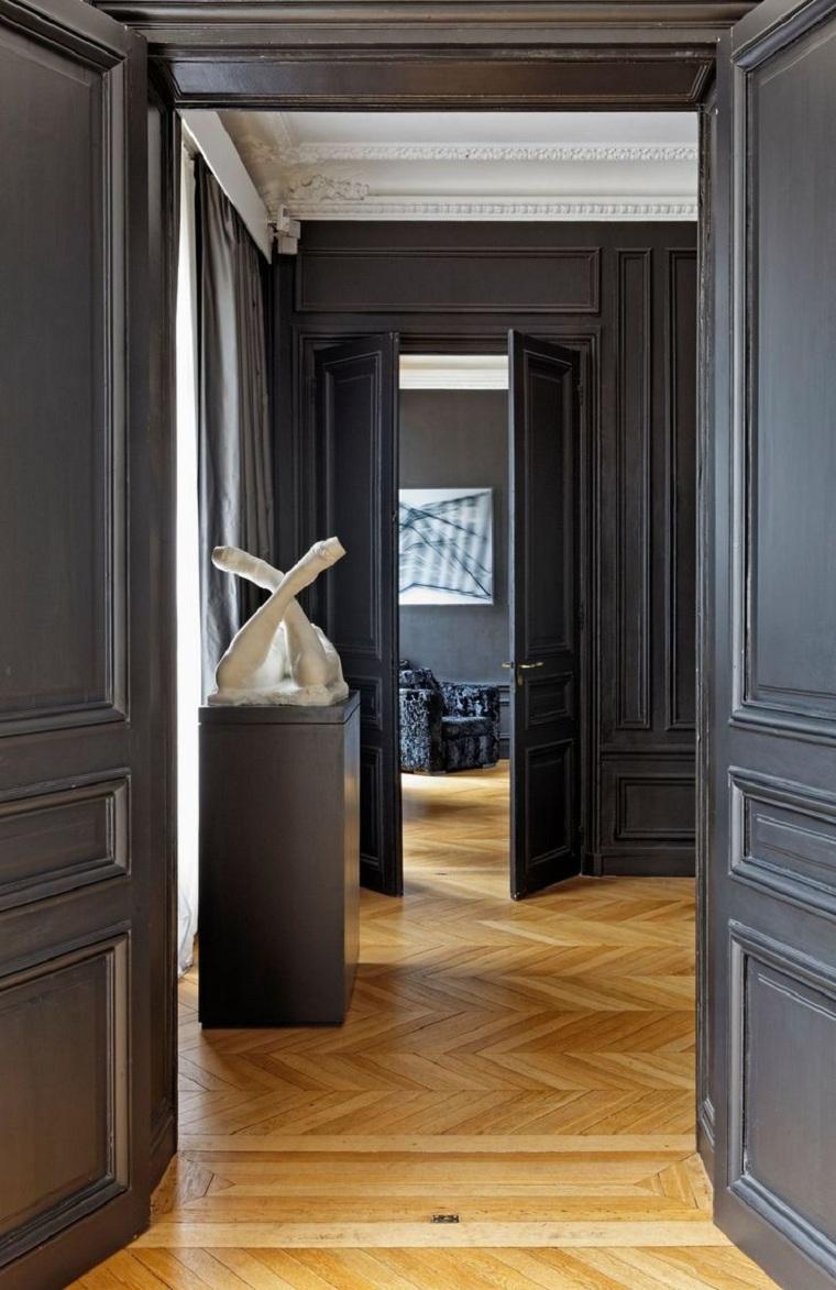 maison-moderne-element-decoratif-statue-plâtre