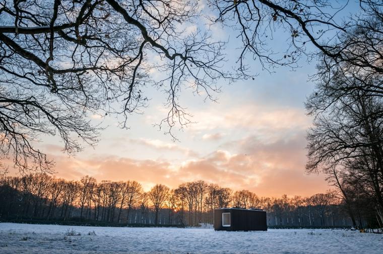 paysage en hiver