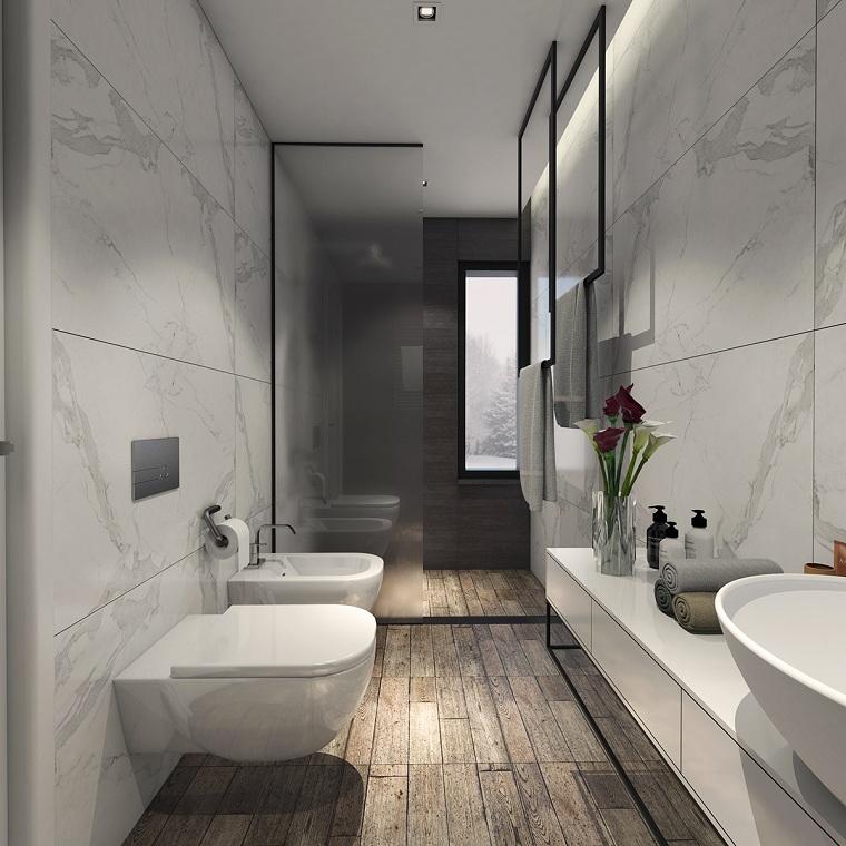 salle de bain-étroite-longue-options-originales-idées