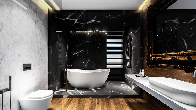 salle de bain-marbre-noir-options-design-style moderne