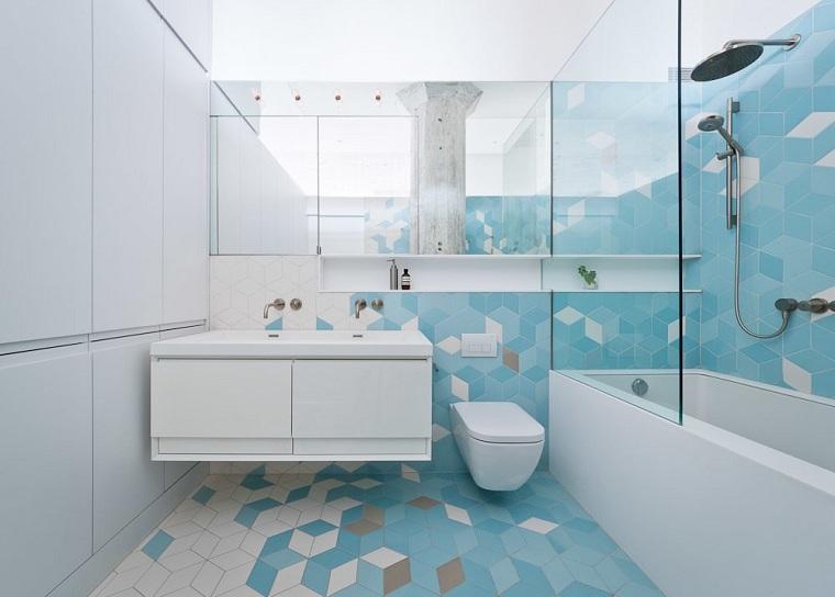salles de bains-moderne-options-dalles-bleu