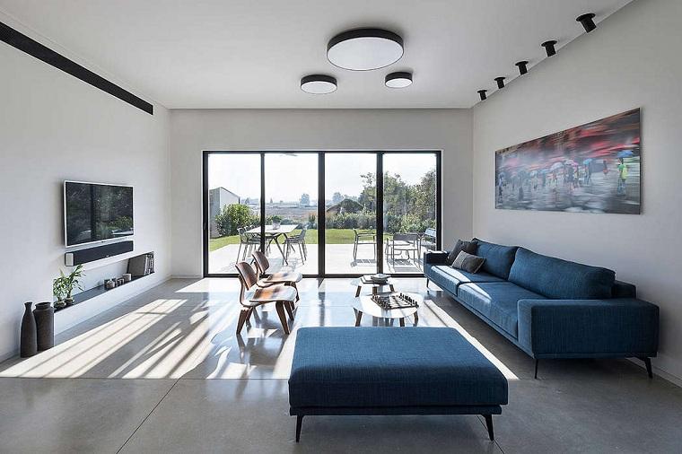 salon conçu par les architectes neuman hayner