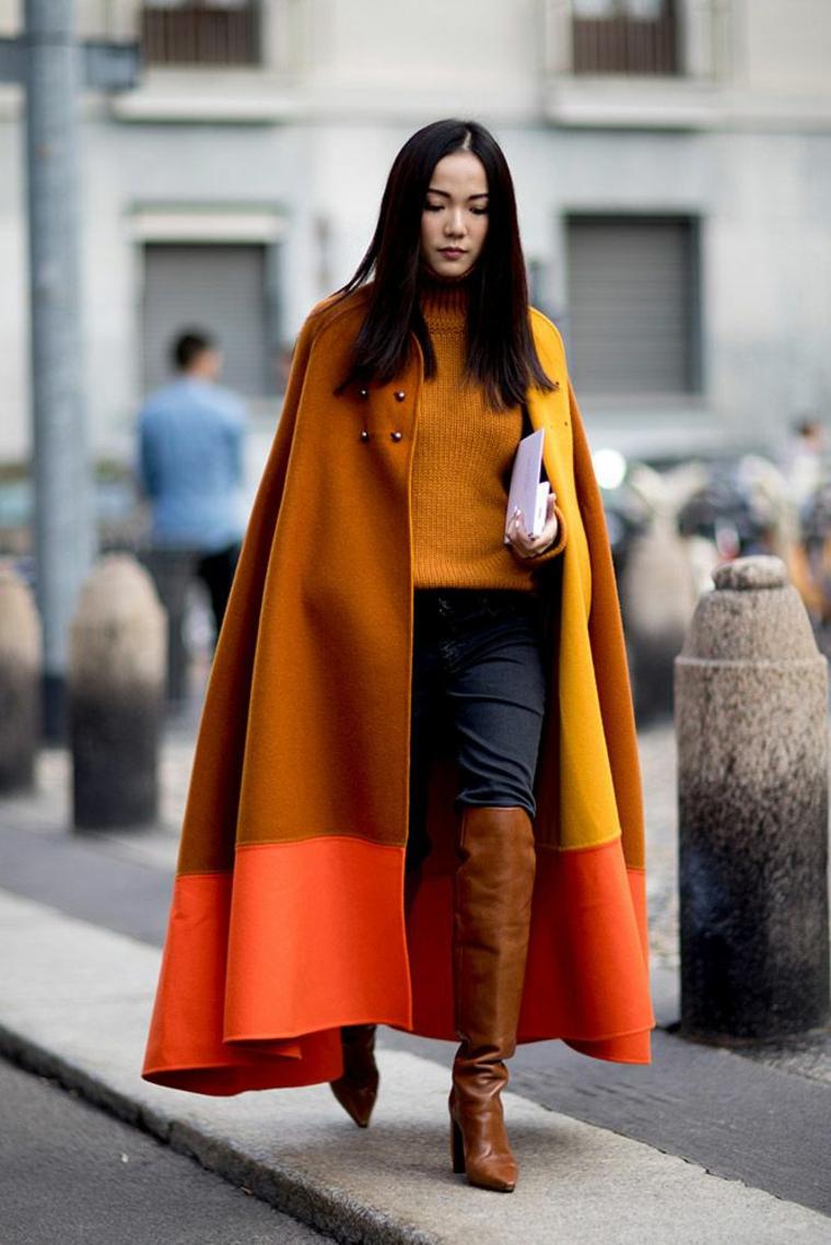 manteau des tons chauds
