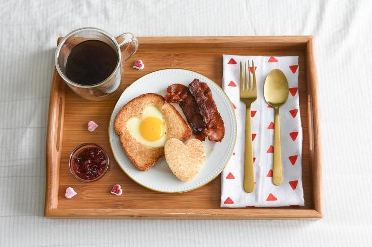 petit déjeuner surprise Saint Valentin