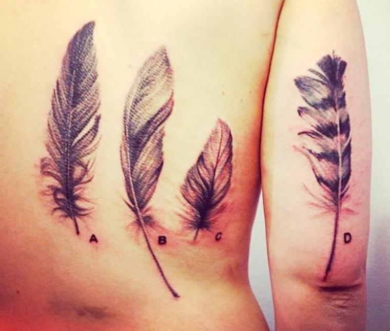 tatouage-de-stylos-idées-distincte-plumes