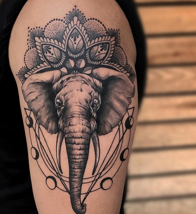 elephant-geometric-design-tattoo