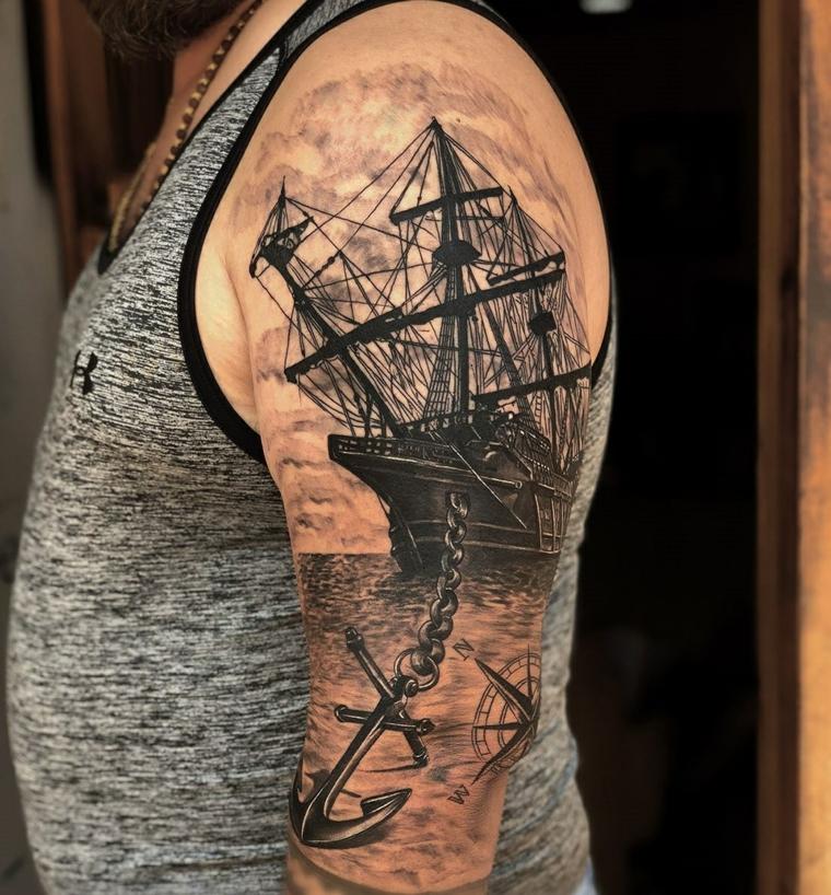 tatouage-bateau-épaule-original-options