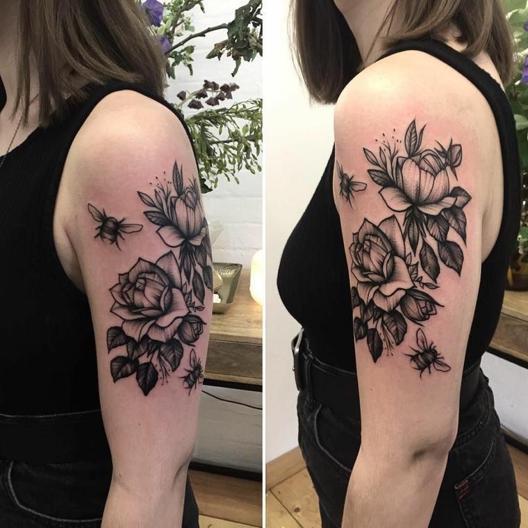 tatouage-man-manga-roses-avejos