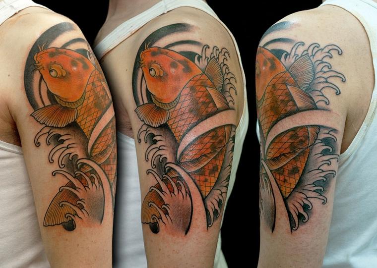 tatouage-épaule-poisson-koy-options