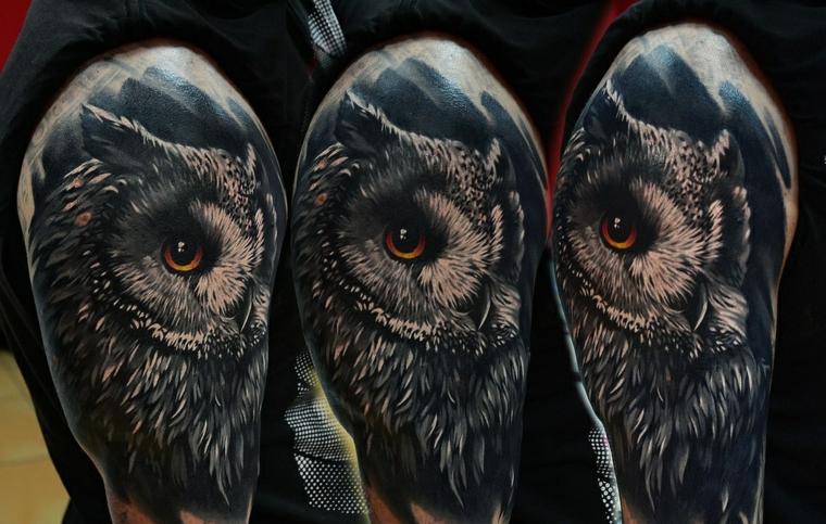 tatouage-hibou-options-épaule-idées