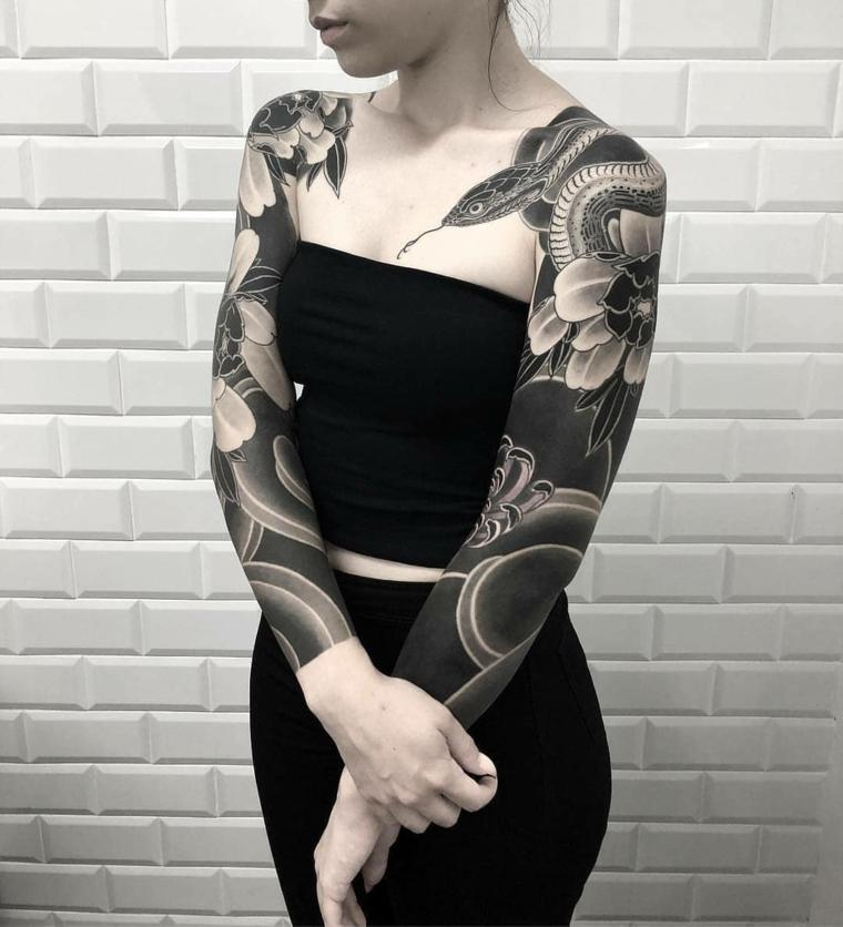 tatouage-serpent-options-femme-idées