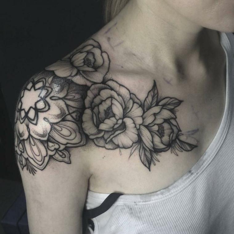 tatouages-fleurs-idées noires