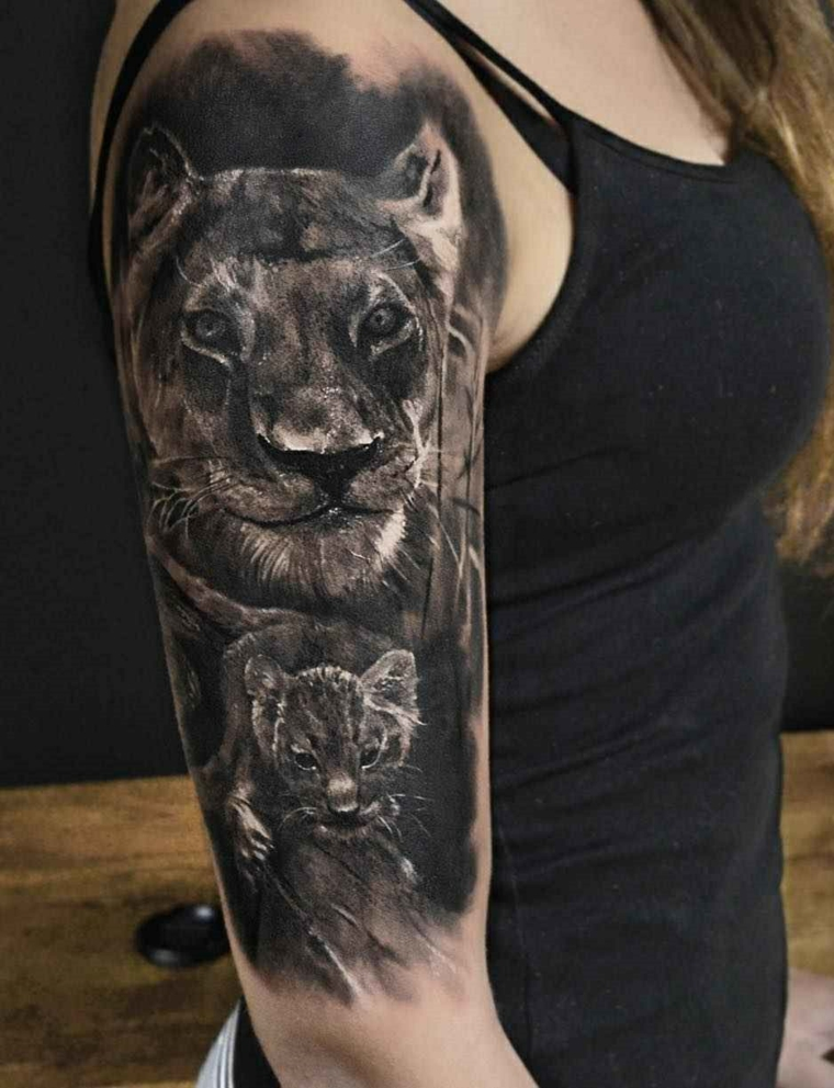 tatouages-épaule-lion-idées