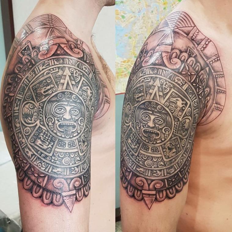 tatouages-pour-lépaule-style-maya