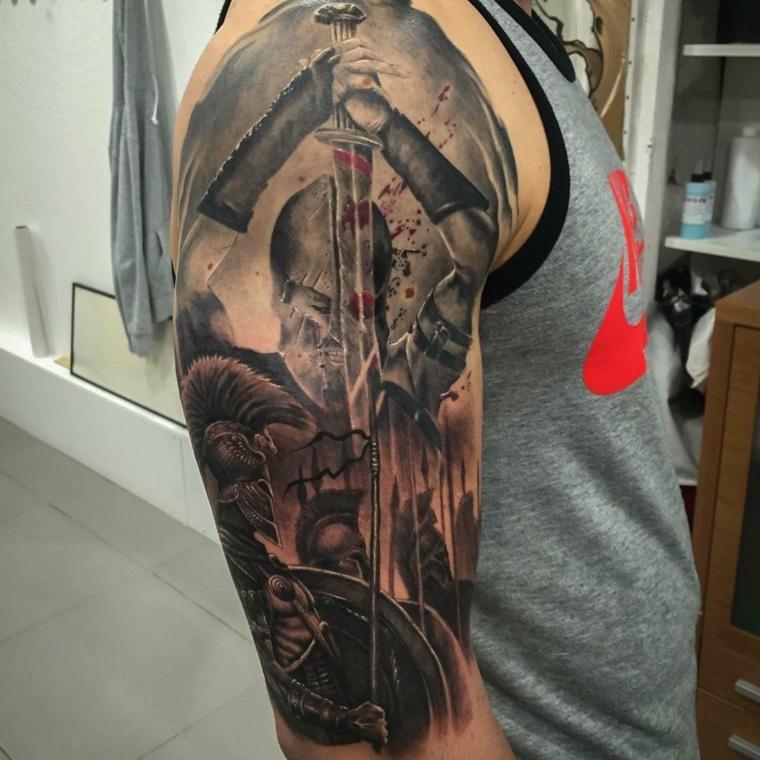 tatouages pour le gladiateur de lépaule