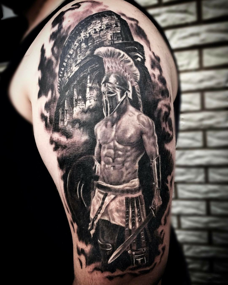 tatouages-pour-lepaule-gladiateur-idees