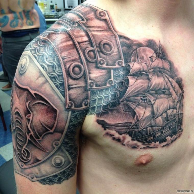 tatouages-pour-l-épaule-idées-bateau
