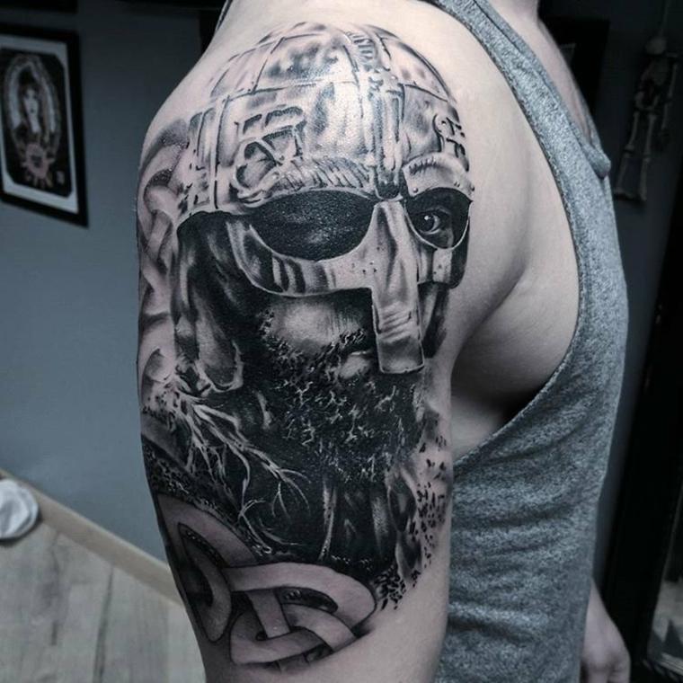 tatouages pour le guerrier des idées dépaule